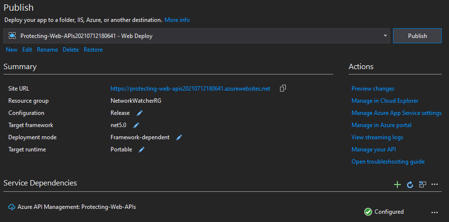 Creating and Publishing Application to Azure App Service
